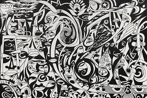 Homa - 'Ancient Persia' | Original Painting | Contemporary Wall Art