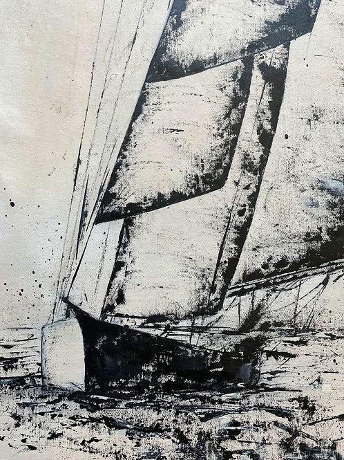 Morning Sail - Three Schooners -  Marine Art (extra large painting)