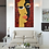Thumbnail: The Eyes - Abstract Art in African Theme | Original Cubism Painting on Canvas