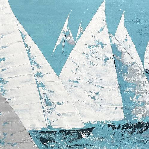 Blue Lagoon - Marine Art (147x57cm)
