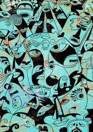 The Sun - Mayan and Aztec mythology by Koorosh Nejad