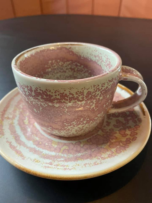 Coffee cup & saucer- flat white size