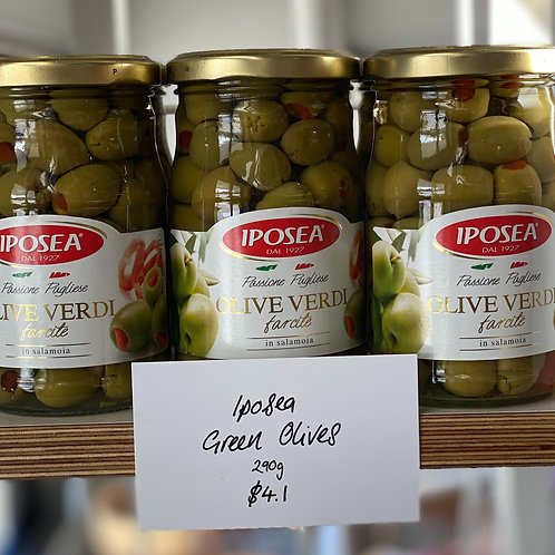 Iposea Green Olives 290gm