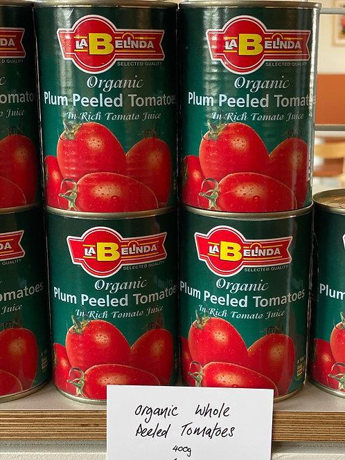 Organic Whole Peeled Plum Tomatoes