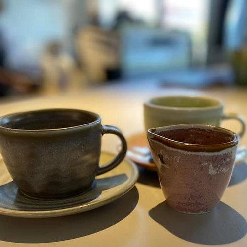 Combo Cup & Saucer Duo and Milk Jug