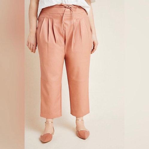 Peach Leather pants