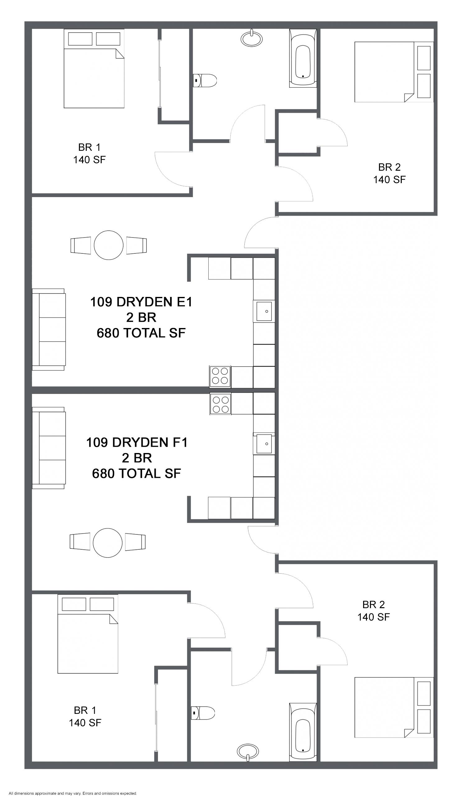 Apartment E1 F1