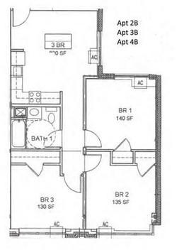 Apartment 2B, 3B & 4B