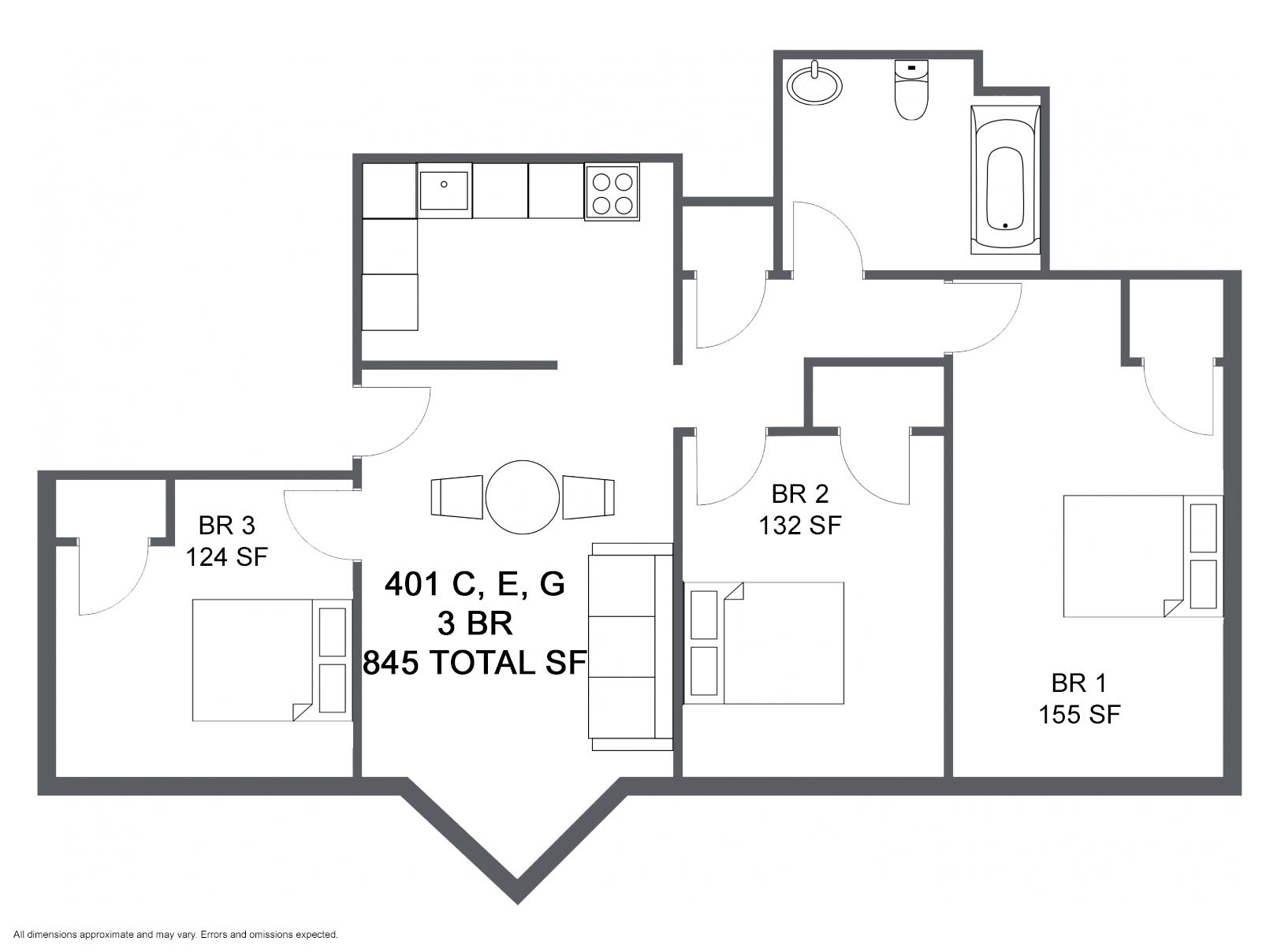 Apartment C E G