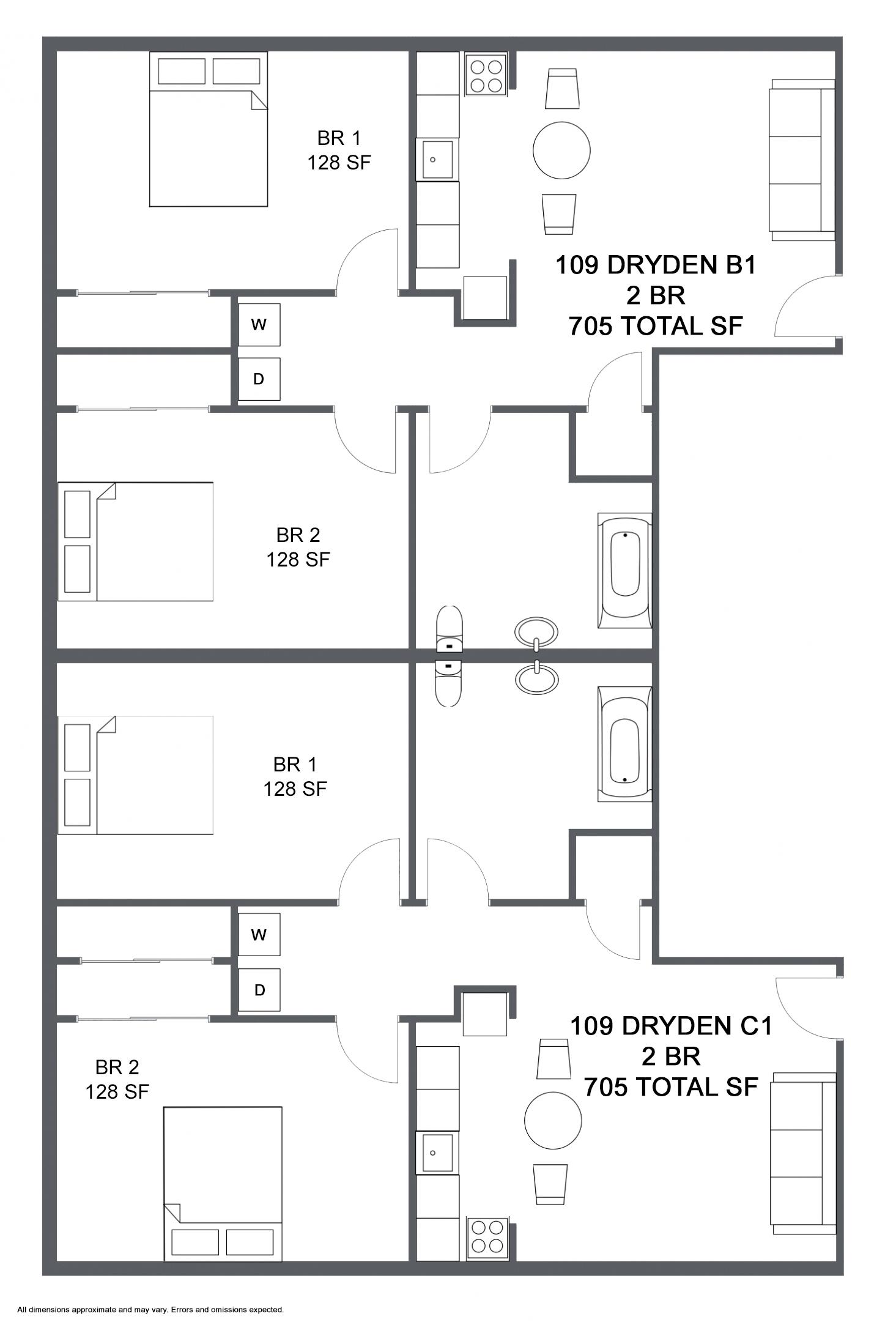 Apartment B1 C1