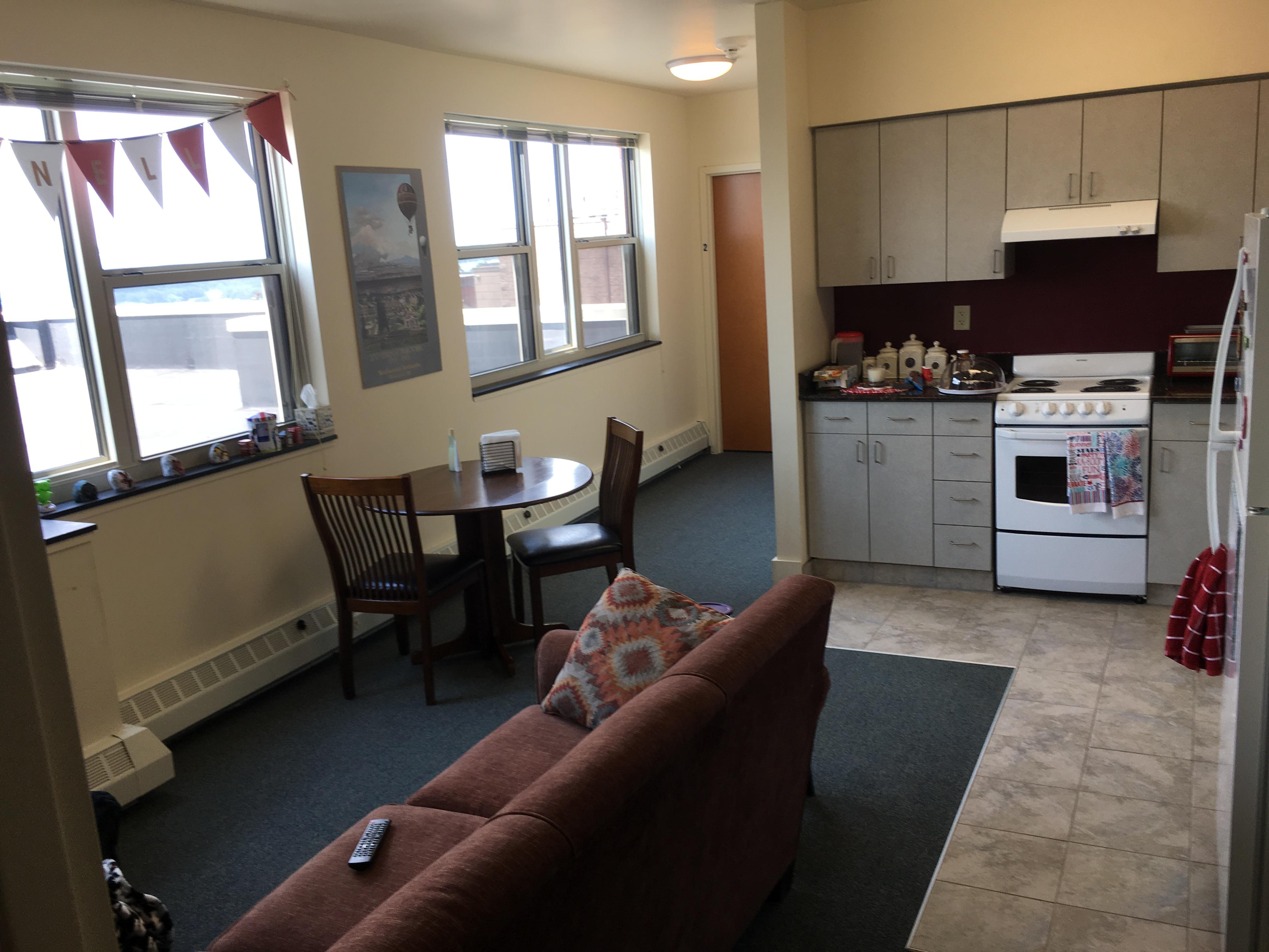 Apt 6P Living Room & Kitchen