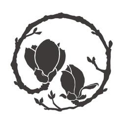 木蓮の花丸紋