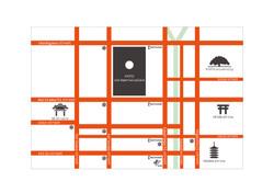 京都中心部のマップ
