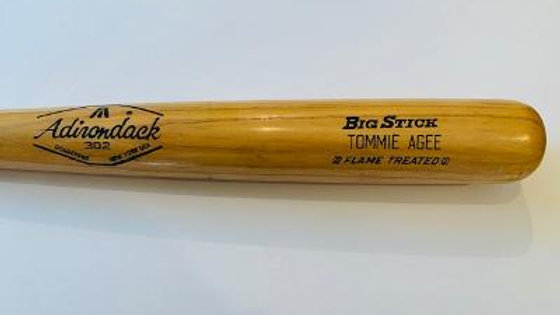 Tommy Agee Mets game used bat graded 8.5