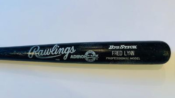 Fed Lynn game used autographed bat