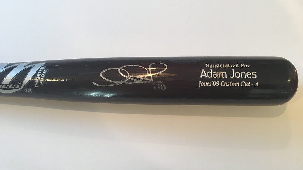 Adam Jones autographed game used bat Orioles