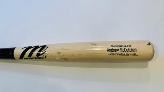 Andrew McCutchen Uncracked Game used Bat Graded perfect 10