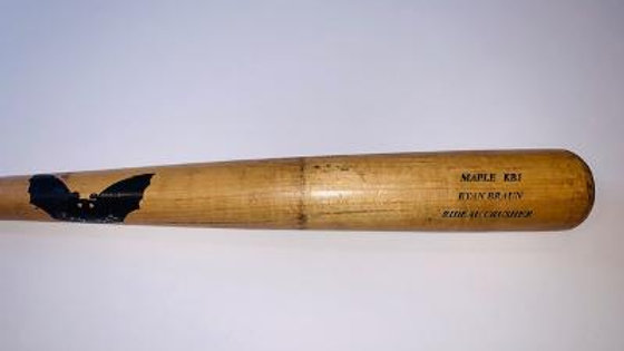 Ryan Braun Game Used Sam Bat 2011 MVP season Graded GU 9