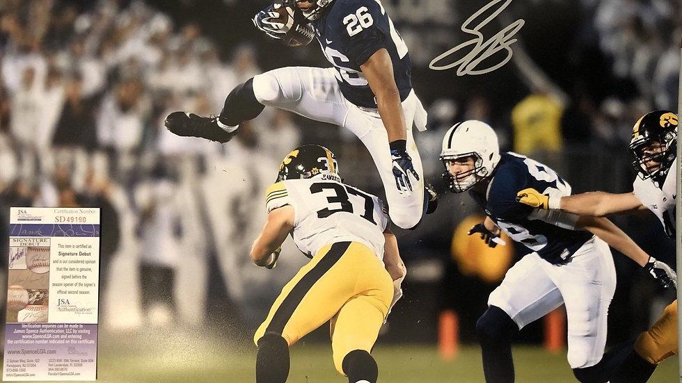 Saquon Barkley autographed 16 X 20 action shot Penn  State JSA