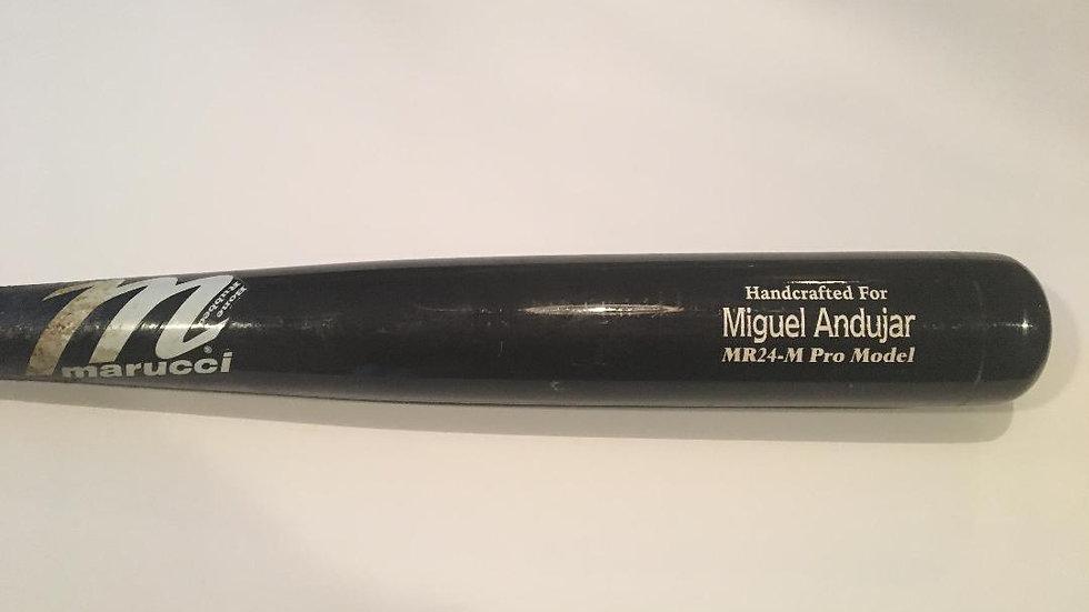 Miguel Andujar game used bat Yankees rookie