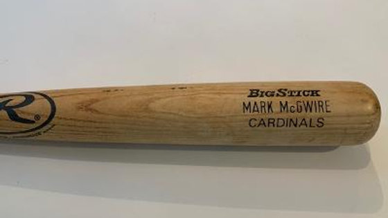 Mark McGwire Game Used Uncracked Bat Graded 9
