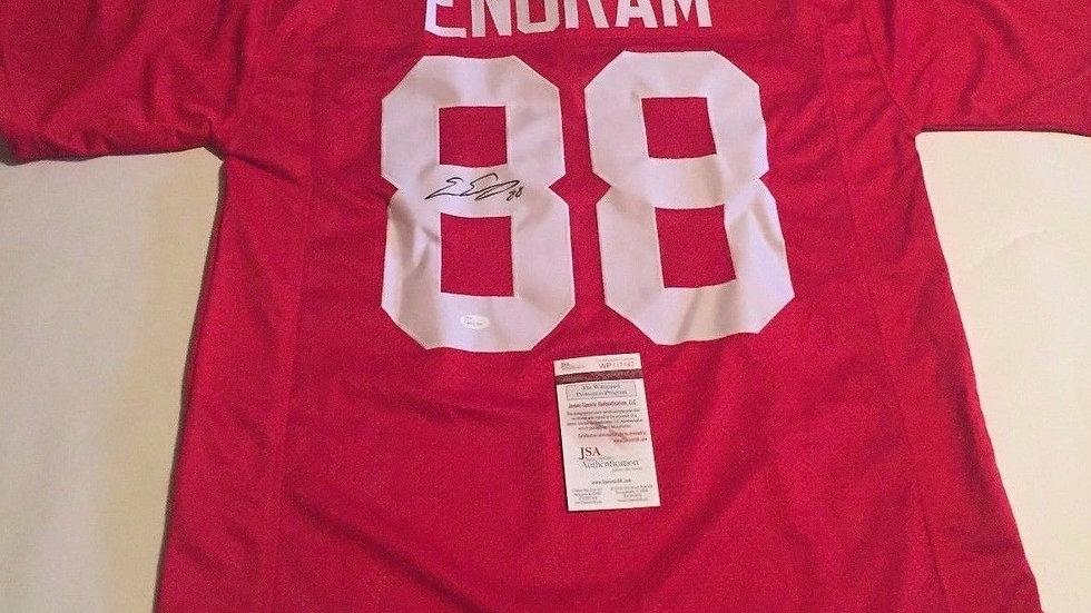 Evan Engram signed Giants jersey
