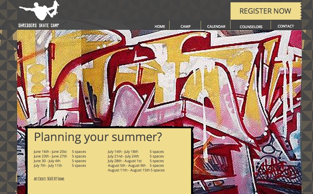 Web Design for Camps