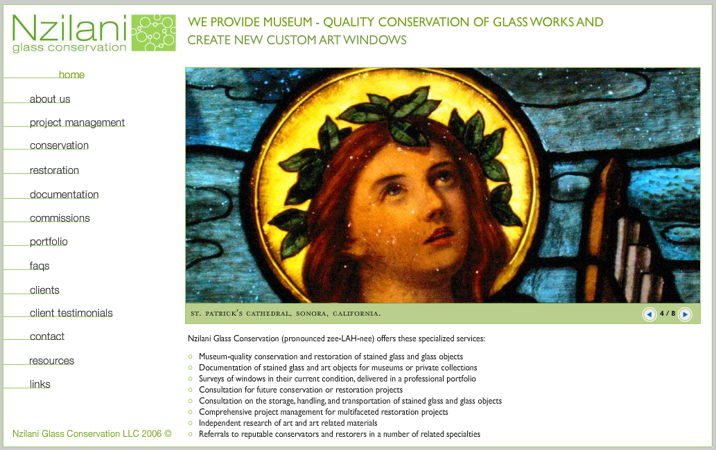 Web Design For Art Restorers