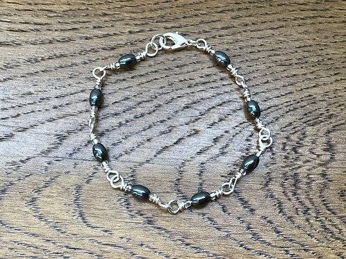 Hematite & Stirling Silver Bracelet