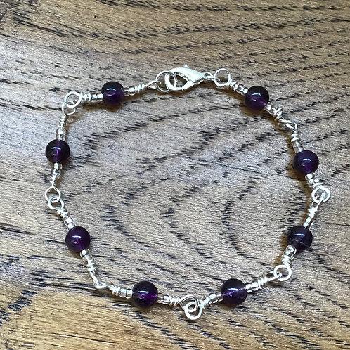 Amethyst & Stirling Silver Bracelet