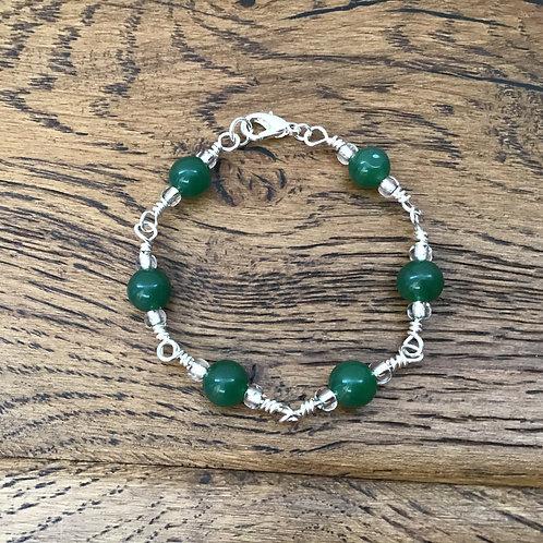 Aventurine & Stirling Silver Bracelet