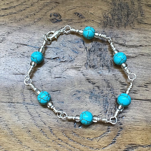 Turquoise & Stirling Silver Bracelet