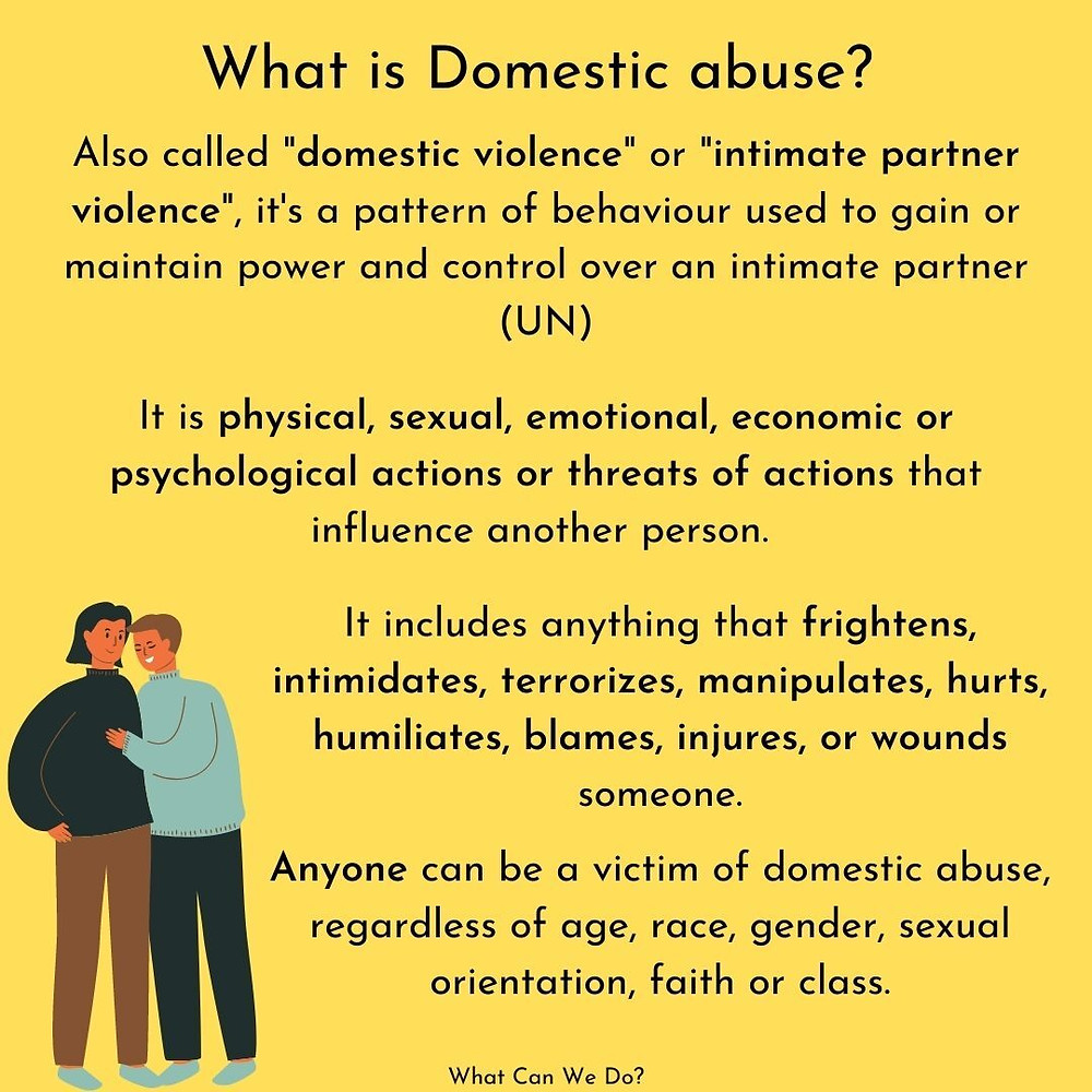 WCWD social media post explaining Domestic Abuse