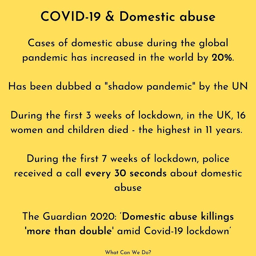 COVID-19 and Domestic Abuse social media post