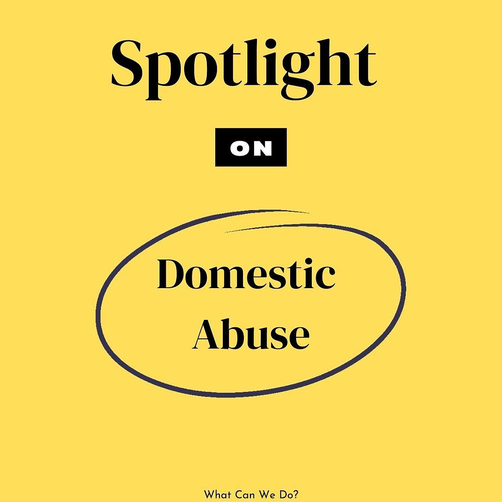 Spotlight on Domestic Abuse yellow social post