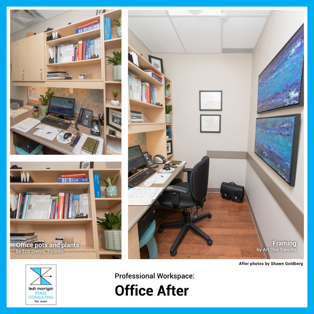 """""""The office changes have had a calming effect on me. It feels like home. It shows my professional accomplishments, it has a nice aesthetic, and it makes me feel good. Definitely money well spent."""" - Dr. D, Toronto physician"""