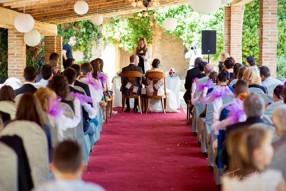 ceremonia castell de rocamora Fotografía documenta Destination wedding photographer Tarragona  Barcelona
