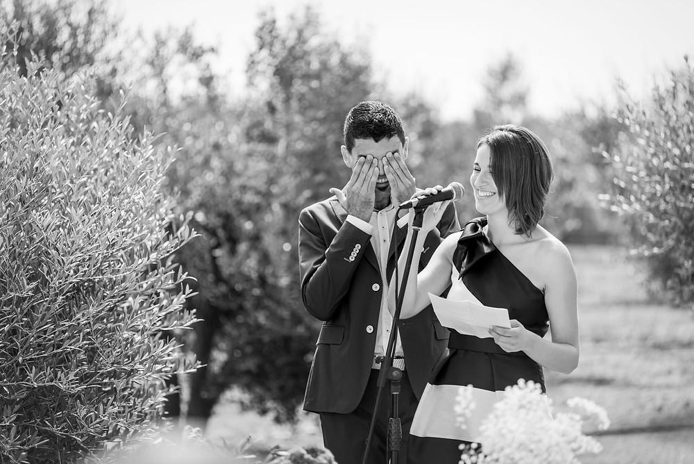 discursos ceremonia boda Mas Montbrió Belvédère Fotografía documental Destination wedding photographer Tarragona  Barcelona