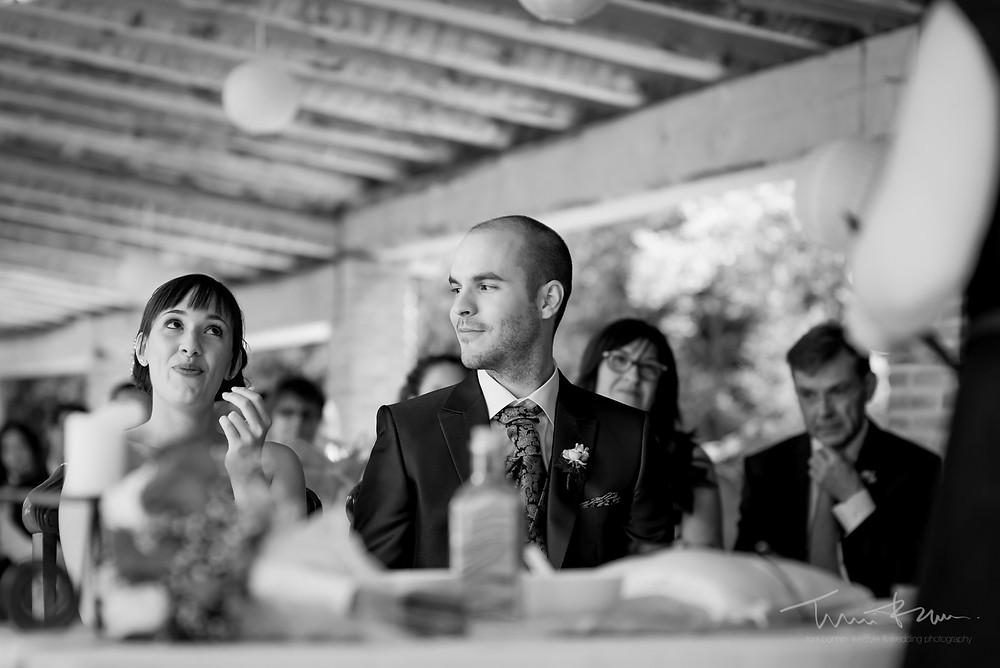 novia emocionada Fotografía documenta Destination wedding photographer Tarragona  Barcelona