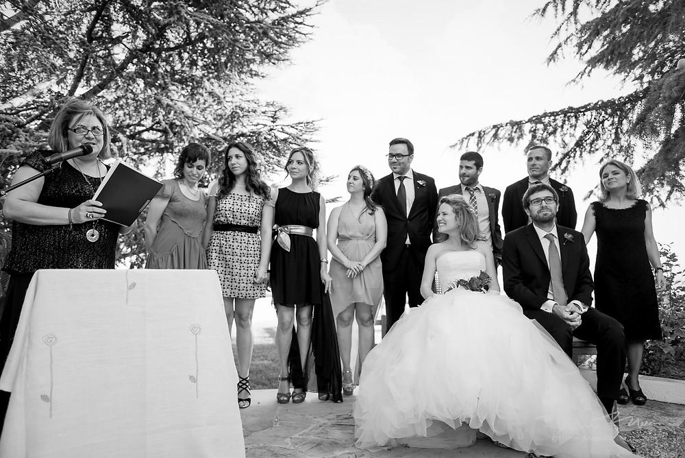 testigos ceremonia Mas Folch boda Fotografía documental Destination wedding photographer Tarragona  Barcelona