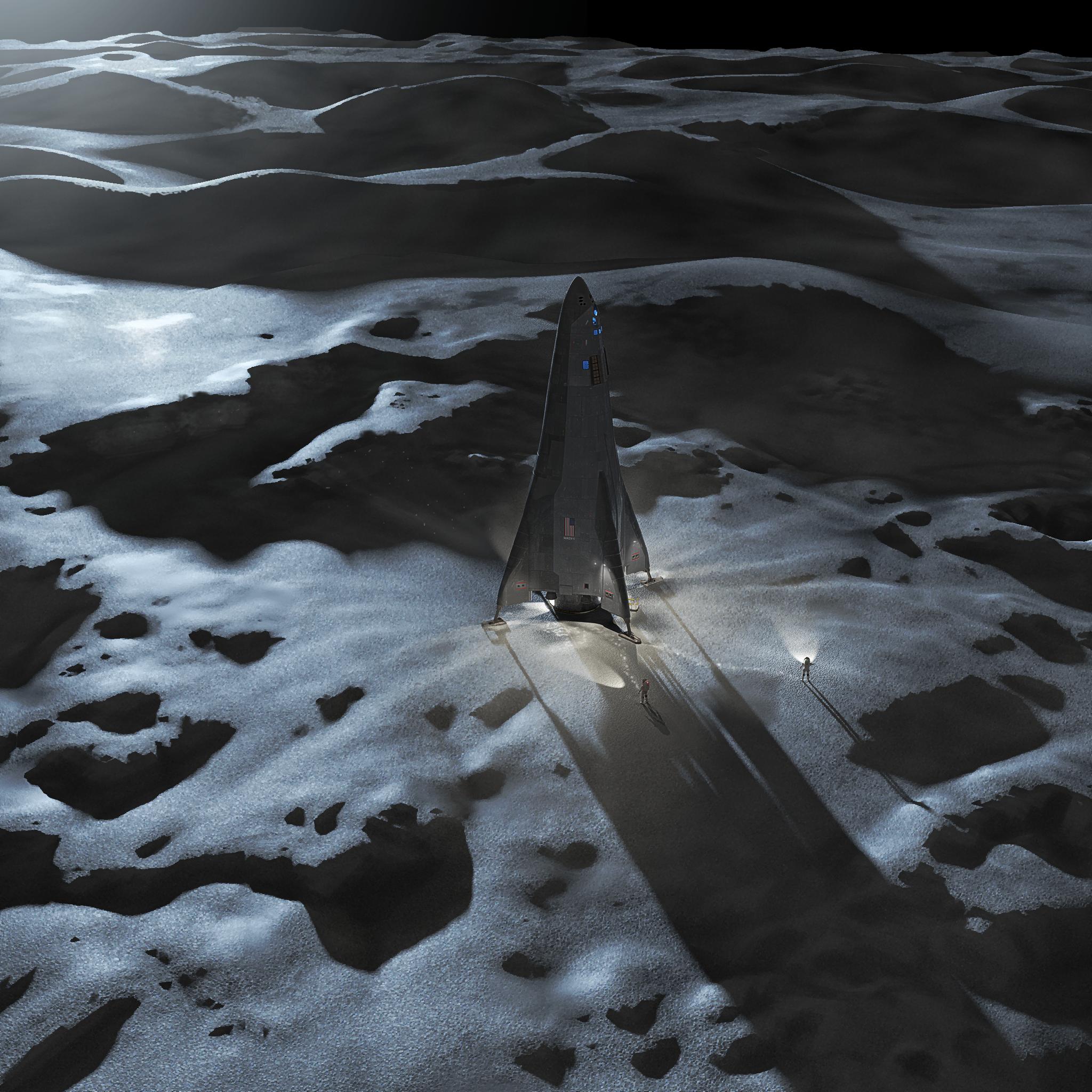 MADV at Lunar Pole nonasa