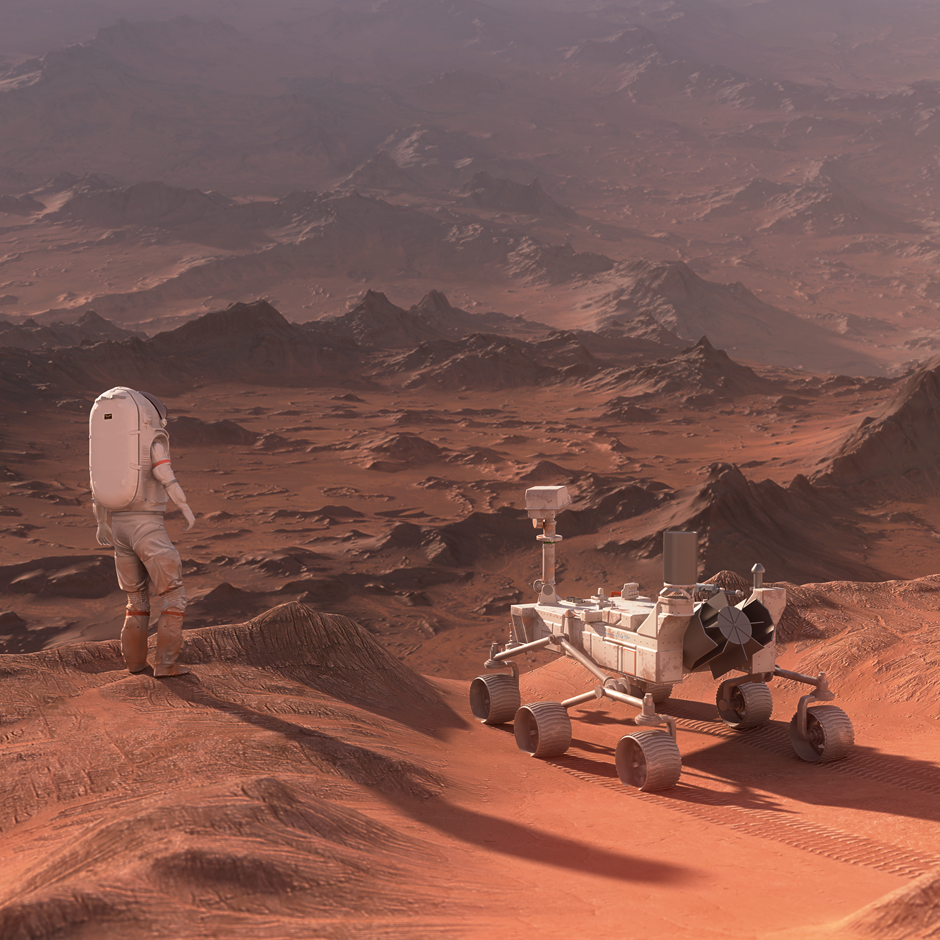 Astronaut + Rover