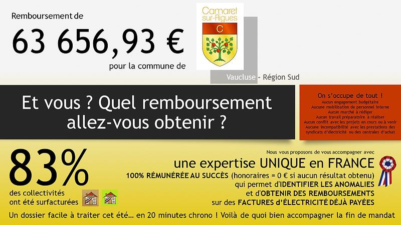Annonce Camaret-sur-Aigues Quel rembours