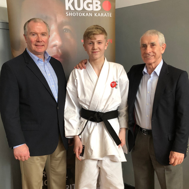 Angus grading for 1st Dan with Andy Sherry and Frank Brennan - 02/06/19