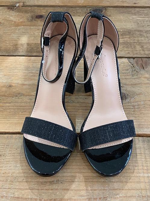 Sandalo tacco nero