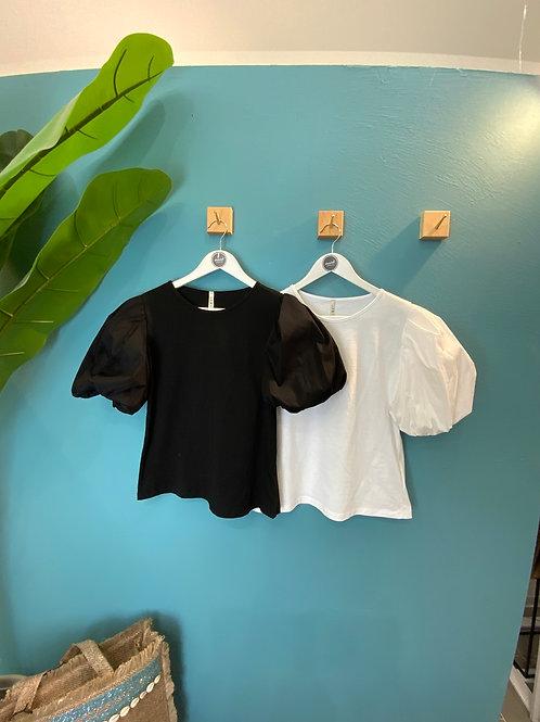 T-shirt manica palloncino -5 colori