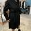 Thumbnail: Cappotto nero con cintura