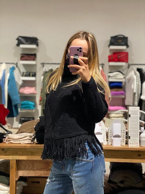 Maglione collo alto e frange - Kontatto - 2 colori