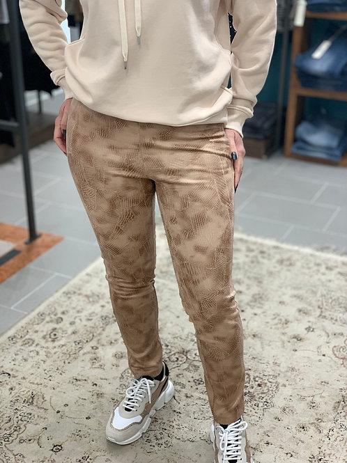 Pantaloni ecopelle rettile
