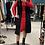 Thumbnail: Vestito rosso scollo V